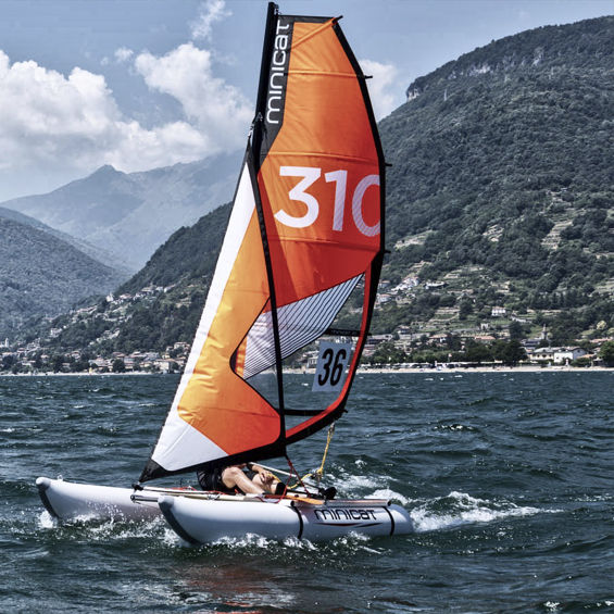 inflatable sailboat minicat 310
