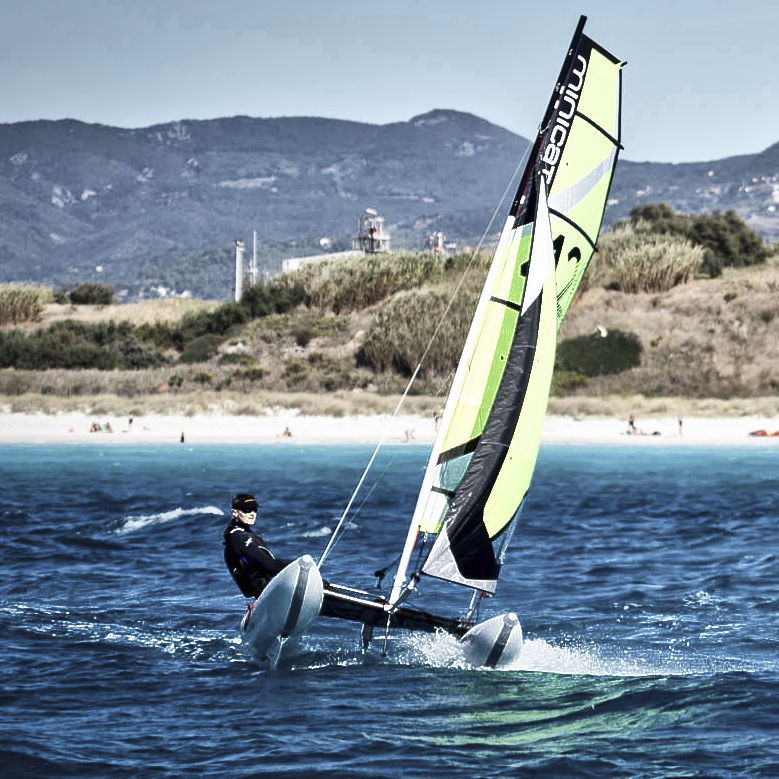 inflatable sailboat minicat 420